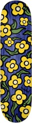 Krooked Team Wild Style Flowers 7.75 Skateboard Deck - blue