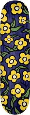 Krooked Team Wild Style Flowers 7.75 Skateboard Deck - navy - view large
