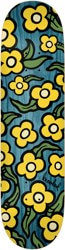 Krooked Team Wild Style Flowers 7.75 Skateboard Deck - teal