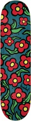 Krooked Team Wild Style Flowers 8.25 Skateboard Deck - teal