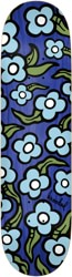Krooked Team Wild Style Flowers 8.5 Skateboard Deck - blue