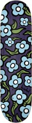 Krooked Team Wild Style Flowers 8.5 Skateboard Deck - navy