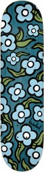 Krooked Team Wild Style Flowers 8.5 Skateboard Deck - teal