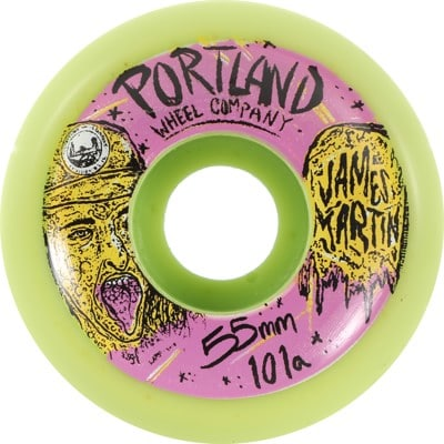 Portland Wheel Company James Martin Pro Skateboard Wheels - green/purple v2 (101a) - view large