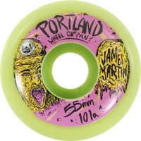 Portland Wheel Company James Martin Pro Skateboard Wheels - green/purple v2 (101a)