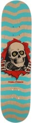 Powell Peralta Ripper 8.0 242 Shape Skateboard Deck - natural/turqoise