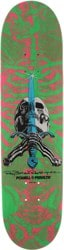 Powell Peralta Skull & Sword 8.0 247 Shape Skateboard Deck - pink/green
