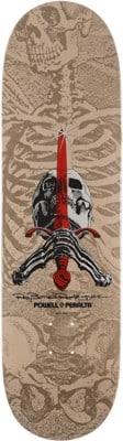 Powell Peralta Skull & Sword 9.05 246 Shape Skateboard Deck - white/gray - view large
