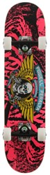 Powell Peralta Winged Ripper 7.0 Soft Wheel Complete Skateboard - pink