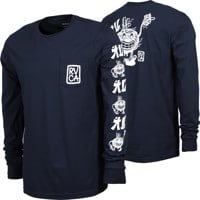 RVCA Send Noodles L/S T-Shirt - navy marine