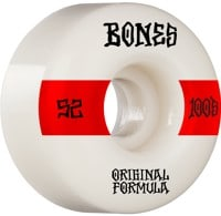 Bones 100's OG Formula V4 Wide Skateboard Wheels - white/red #14 (100a)