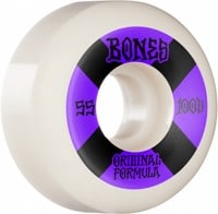 Bones 100's OG Formula V5 Sidecut Skateboard Wheels - white/purple #4 (100a)