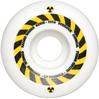 Madness Hazard Sign Conical Surelock Skateboard Wheels - white (101a)