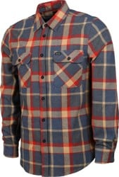Brixton Bowery Flannel - blue/red