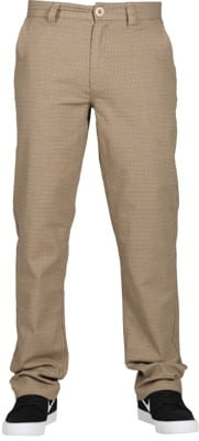 Brixton Choice Chino Pants - vanilla houndstooth - view large