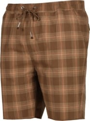 Brixton Madrid II Shorts - washed brown plaid