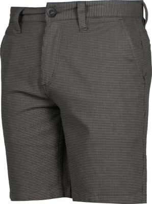Brixton Choice Chino Shorts - black/charcoal houdstooth - view large