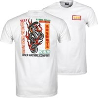 Loser Machine Strike Hard T-Shirt - white