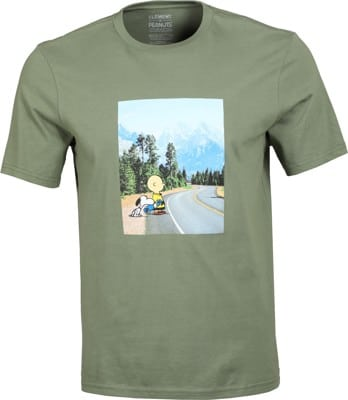 Element Peanuts Adventure T-Shirt - army - view large