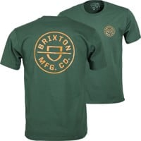 Brixton Crest X T-Shirt - hunter green