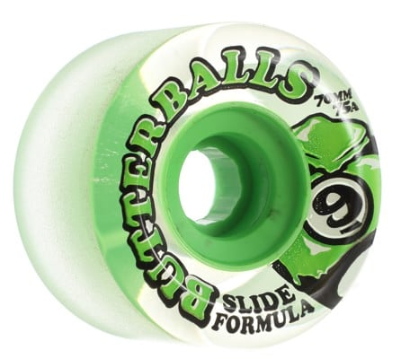 Sector 9 Butter Balls Slide Formula Longboard Wheels - clear/green 70 (75a) - view large