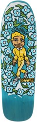Krooked Gonz Sweatpants 9.81 Skateboard Deck - teal