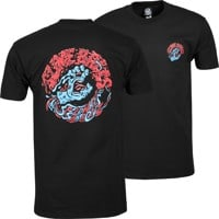 Santa Cruz Slime Balls Screaming Slime T-Shirt - black