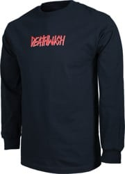 Deathwish Deathspray L/S T-Shirt - navy/red