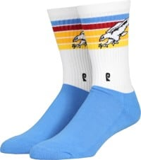 Psockadelic Hawk Sock - blue/white