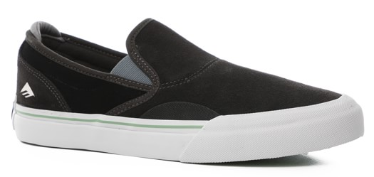 Emerica Wino G6 Slip-On Shoes - (rubber vulcano) dark grey/black - view large