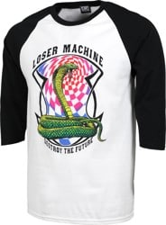 Loser Machine Psyched 3/4 Sleeve T-Shirt - white/black