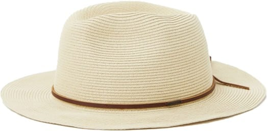 Brixton Wesley Straw Packable Fedora Hat - tan - view large