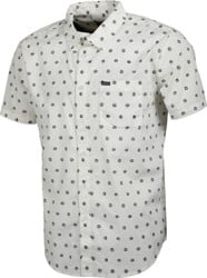 Brixton Charter Print S/S Shirt - off white/charcoal