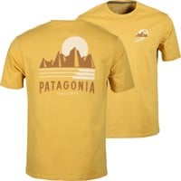 Patagonia Tube View Organic T-Shirt - mountain yellow