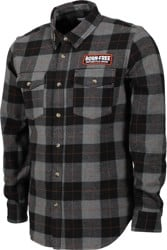 Loser Machine LMC X Born-Free Adamson Flannel Shirt - black/grey