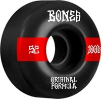 Bones 100's OG Formula V4 Wide Skateboard Wheels - black/red #14