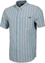 Vans Houser S/S Shirt - moroccan blue-dried tobacco stripe