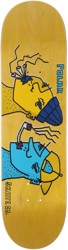Polar Skate Co. Team Smoking Heads 8.625 Skateboard Deck - yellow
