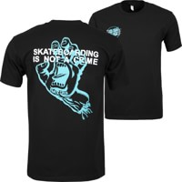 Santa Cruz Crime Hand T-Shirt - black