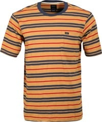 RVCA Capistrano Stripe T-Shirt - golden rod