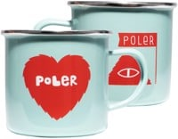 Poler Enamel Camp Mugs - ocean zissou red