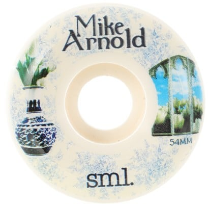 Sml. Arnold Still Life V-Cut Skateboard Wheels - white (99a) - view large