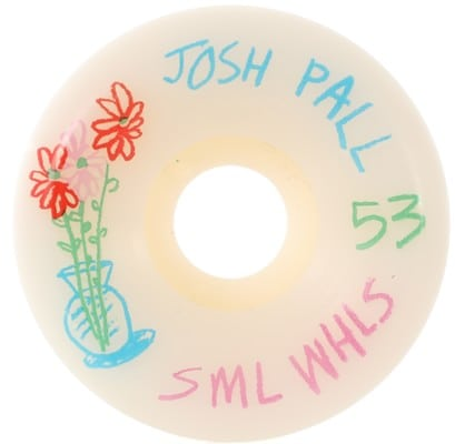 Sml. Pall Pencil Pusher V-Cut Skateboard Wheels - white (99a) - view large