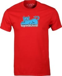 Toy Machine Devil Cat 19 T-Shirt - red/blue