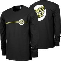Santa Cruz Other Dot L/S T-Shirt - black/safety yellow