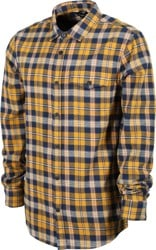 Poler Zero Flannel Shirt - gold