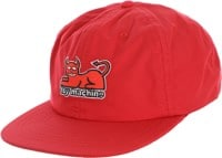 Toy Machine Devil Cat Unstructured Snapback Hat - red