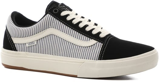 Vans Old Skool Pro BMX Skate Shoes - (federal) black/blue pinstripe - view large