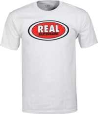 Real Oval T-Shirt - white/red