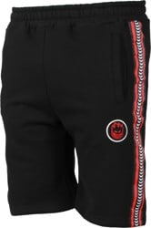 Spitfire Bighead Circle Stripe Fleece Shorts - black